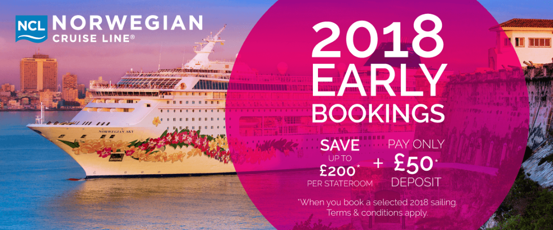 Norwegian Cruise Line Early Booking Sale - Cruise ship terms