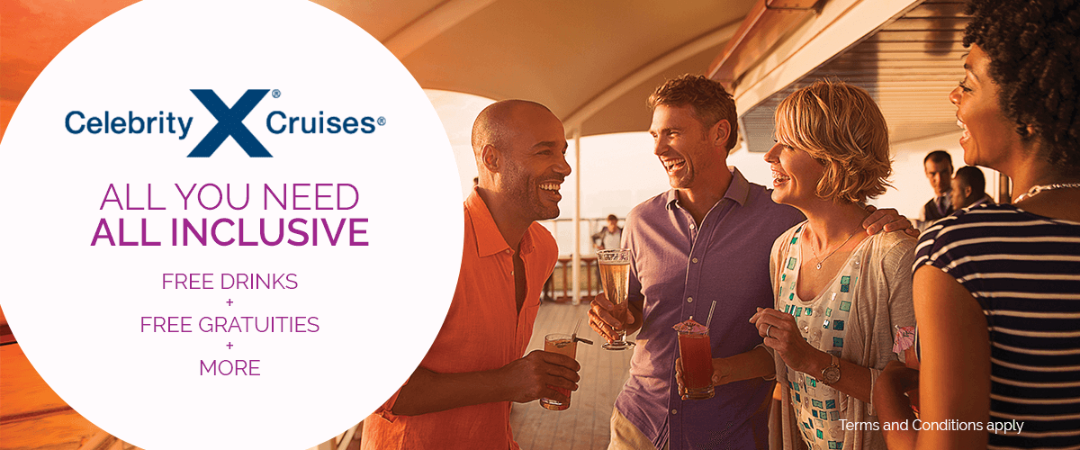 Celebrity Cruises with Free Gratuities + 2 Extras is BACK